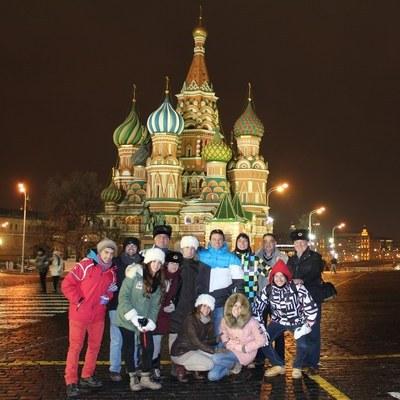 Tour nocturno en Moscú en español.