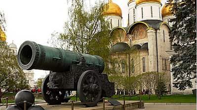 El cañón del zar en el kremlin