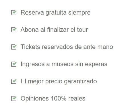 Características del tour