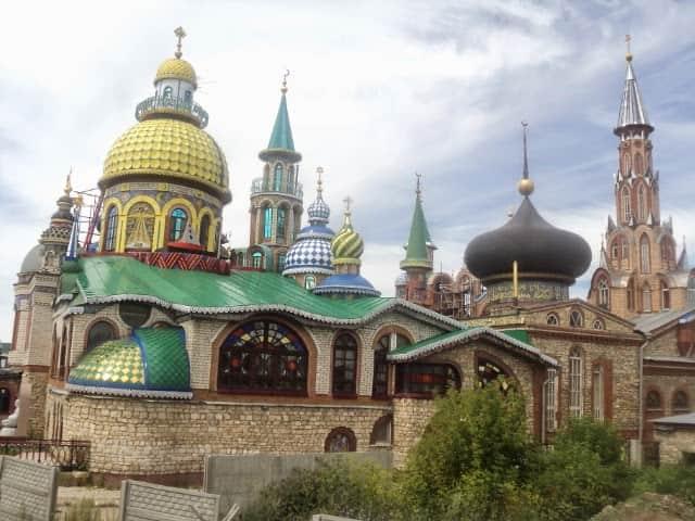 Panoramica de Kazan en el transiberiano