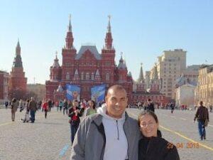 Turistas de Chile en la plaza roja