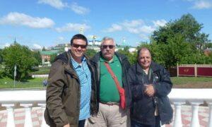 Turistas de España en Moscú